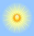 Big shining sun vector image