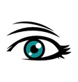 cute female blue eye look vision design vector image