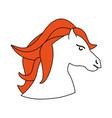 cute little unicorn cartoon vector image
