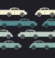 decorative pattern with colorful retro cars vector image