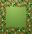 frame border seamless texture with berries vector image