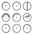 gauges icons set vector image