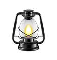 Kerosene lamp isolated on white vector image