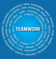 Teamwork concept in circles vector image