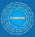 Teamwork concept in circles vector image