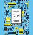 underwater diving equipment sale vector image