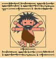 vitruvian ancient man vector image