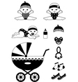 Baby icon set vector image vector image