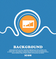 Volume adjustment icon sign Blue and white vector image