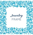 Square Frame Made of Diamonds vector image
