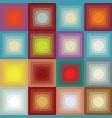 retro square pattern vector image