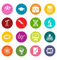 education icons many colors set vector image vector image