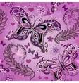 Seamless pastel pink vintage pattern vector image vector image