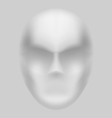 Blurry face vector image