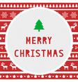 Merry Christmas greeting card8 vector image