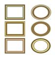 gold bronze frame set pattern vector image vector image