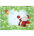 winter background with santa vector image vector image