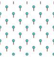 blue round lollipop pattern vector image