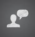 conversation sketch logo doodle icon vector image