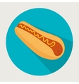 icon hot dog food design vector image