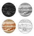 jupiter icon in cartoon style isolated on white vector image