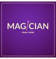 Magician logo circus design vector image