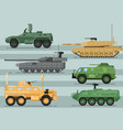 modern military technics isolated set vector image