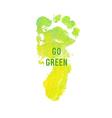 Motivation poster Go Green vector image