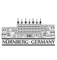 nurnberg city symbol old german nuremberg travel vector image
