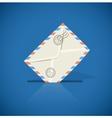 Postal envelope with letter vector image