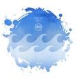 sea watercolor background vector image