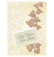 Vintage floral Ivy card vector image