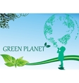 Background-green planet - the picture is in the vector image