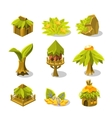Video Game Tropical Jungle Design Collection Of vector image