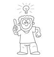 Cartoon man with idea vector image vector image