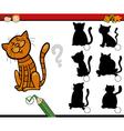 shadow game cartoon vector image