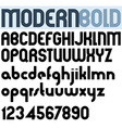 Poster modern bold black font and numbers vector image
