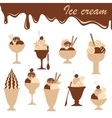 icecreams mix vector image