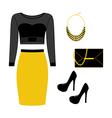 Fashion look vector image