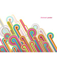 Abstract background with colorful lines - light vector image