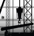 construction worker supervise the work vector image