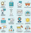 Customer relationship management - part 4 vector image