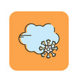 flat color snow rain icon vector image