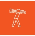 Man carrying wheat line icon vector image