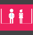 restroom sign icon vector image