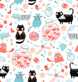 Texture of cat lovers vector image