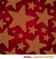 Seamless pattern with golden stars vector image