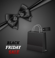 Shopping Paper Bag for Black Friday Sales and Bow vector image vector image