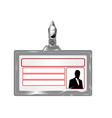 empty badge vector image