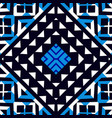 Abstract ethnic seamless blue geometric pattern vector image